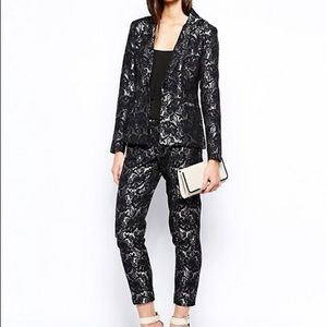 TFNC Black Lace Suit NWT. S/M